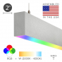 Image 2 of Alcon 12100-20-P-RGBW Color-Changing Linear Slim LED Pendant Light