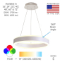 Image 2 of Alcon Lighting 12270-1 Redondo Suspended Architectural LED 1 Tier Ring Direct Indirect Chandelier Light