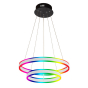 Image 1 of Alcon 12270-2-RGBW Redondo Suspended Architectural LED 2 Tier Ring Chandelier