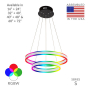 Image 2 of Alcon 12270-2-RGBW Redondo Suspended Architectural LED 2 Tier Ring Chandelier