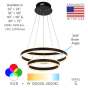 Image 2 of Alcon Lighting 12270-2 Redondo Suspended Architectural LED 2 Tier Ring Direct Indirect Chandelier Light