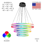 Image 2 of Alcon 12270-3-RGBW Redondo Suspended Architectural LED 3 Tier Ring Chandelier