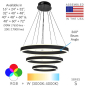 Image 2 of Alcon Lighting 12270-3 Redondo Suspended Architectural LED 3 Tier Ring Direct Indirect Chandelier Light