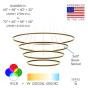 Image 2 of Alcon Lighting 12270-4 Redondo Suspended Architectural LED 4 Tier Ring Direct Indirect Chandelier Light