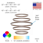 Image 2 of Alcon Lighting 12270-5 Redondo Suspended Architectural LED 5 Tier Ring Direct Indirect Chandelier Light