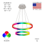 Image 2 of Alcon 12272-2-RGBW Redondo Architectural LED 2 Tier Ring Chandelier