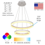 Image 2 of Alcon 12272-2 Architectural LED 2-Tier Ring Chandelier