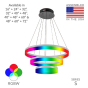 Image 2 of Alcon 12272-3-RGBW Redondo Architectural LED 3 Tier Ring Chandelier