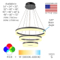 Image 2 of Alcon Lighting 12272-3 Redondo Architectural LED 3 Tier Ring Direct Downlight Chandelier Light