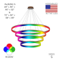 Image 2 of Alcon 12272-4-RGBW Redondo Architectural LED 4 Tier Ring Chandelier