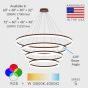 Image 2 of Alcon 12272-4 Redondo Architectural LED 4 Tier Ring Chandelier