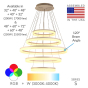 Image 2 of Alcon 12272-5 Redondo Architectural LED 5 Tier Ring Chandelier