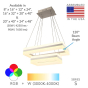 Image 2 of Alcon 12274-2 Rectangle Architectural LED 2 Tier Chandelier