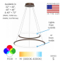 Image 2 of Alcon Lighting 12279-2 Redondo Suspended Architectural LED 2 Tier Ring Direct Indirect Chandelier Light