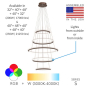 Image 2 of Alcon Lighting 12279-5 Redondo Suspended Architectural LED 5 Tier Ring Direct Indirect Chandelier Light