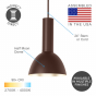 Image 2 of Alcon 12302-P-DM Architectural Half-Moon Dome Industrial LED Pendant Light