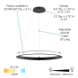 Image 2 of Alcon 15120 Exterior Rounded Pendant LED Lighting System
