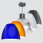 Image 1 of Alcon 15245-16 Integrated 16-Inch Industrial Dome LED Pendant Light