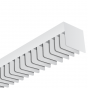 Alcon Lighting 6022-S-8 LST Architectural Fluorescent 8 Foot Linear Surface Mount Square Louver Luminaire