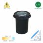 Image 2 of Alcon 9044 Sfizio Architectural Landscape LED 8 Inch In-Ground Cast Aluminum Well Light - 120V~277V