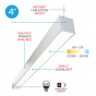 Image 3 of Alcon 12200-4-P RFT LED Linear Suspended Pendant Mount Light