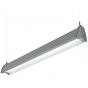 H.E. Williams AXA-8 Architectural Contoured Louver Fluorescent Suspended Light Fixture - 8 FT