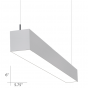 Image 1 of Alcon Lighting Beam 66 Series 10120-4 Architectural 4 Foot Linear Fluorescent Pendant Mount Light Fixture