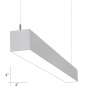 Alcon Lighting 12200-4-P-4 RFT Series Architectural LED 4 Foot Linear Suspended Pendant Mount Direct Light Fixture