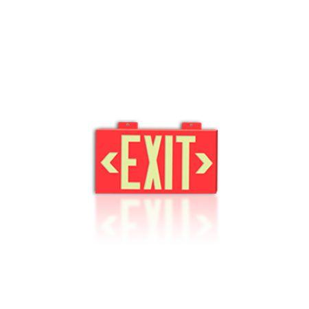 Barron Lighting EXI-Glow Self Illimunating Emergency Exit Sign Photoluminescent Pl-1-F-2R