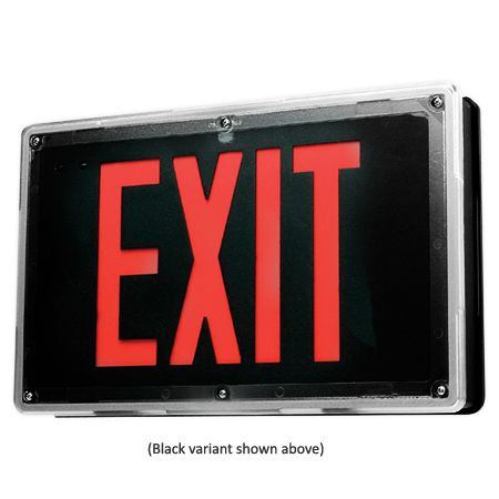 Philips Lightolier Vandal Resistant Wet/Damp Location LED Exit Sign Light LWL2A1GW2CKT2