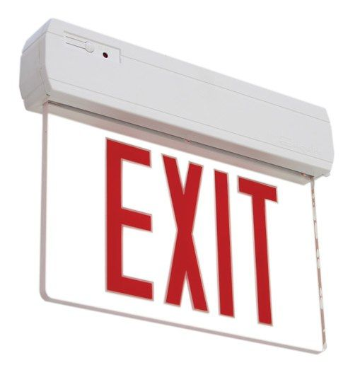 Primo Recessed / Surface Edge Lit LED Exit Sign