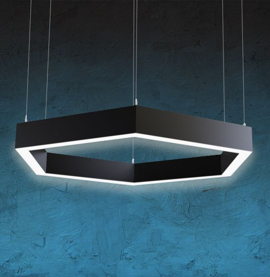 Image 1 of Alcon Lighting 12132 Hexagon Suspended Pendant Direct Light Fixture