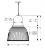 Alcon Lighting 15204 Hudson Architectural Round High Bay Pendant Fixture for Commercial Lighting or Warehouse Lighting Applications