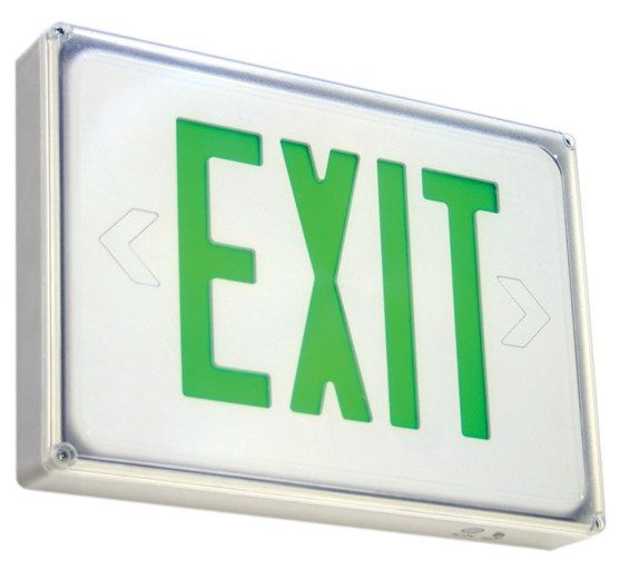 Alcon Lighting Gulf Low Profile Wet Location Exit Sign