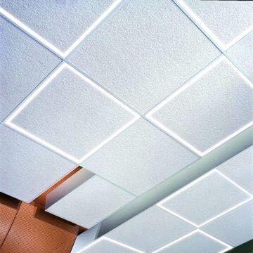 Image 1 of Alcon Lighting 14029 Acoustical Tile Edge-Lit Grid Ceiling Linear Strip LED Light Fixture