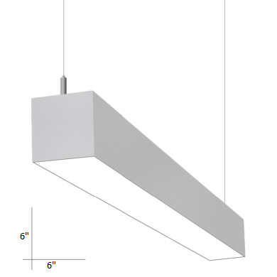 Alcon Lighting 12200-6-P-8 RFT Series 8 Foot Architectural LED Linear Direct Light Fixture