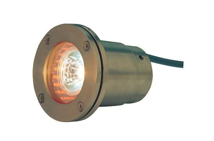 Alcon Lighting 9105-AB Baldwin Architectural Landscape LED 4 Inch Low Voltage Drive-Over Rated Well Light