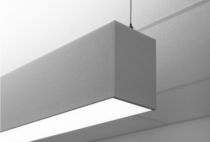 Image 1 of Finelite HP-4 ID High Performance 4 Inch Aperture LED Linear Suspended Strip Direct/Indirect Fixture