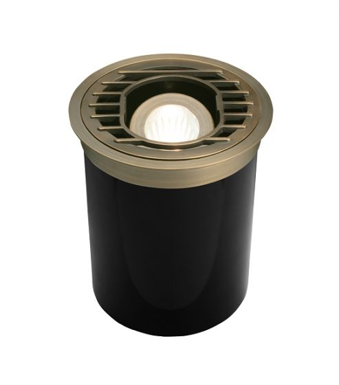 Alcon Lighting 9031 Sophia Architectural Landscape LED Low Voltage Cast Brass In Ground Well Light