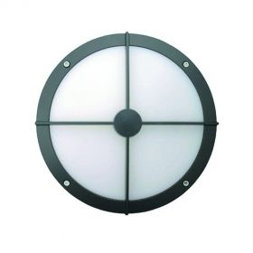 Alcon 11231-B Optic 10-Inch Round Bulls-Eye Face Guard Architectural LED Wallpack Outdoor Vandal Proof Luminaire
