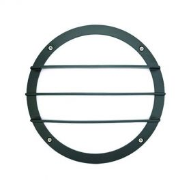 Alcon 11231-G Optic 10-Inch Round Guard Bar Face Guard Architectural LED Wallpack Outdoor Vandal Proof Luminaire