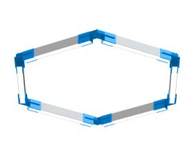 Alcon 12100-23-HX Architectural Hexagon LED Pendant Light