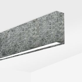 Alcon 12101-20-S Linear Surface-Mounted LED Light With Sound Absorbing Acoustics