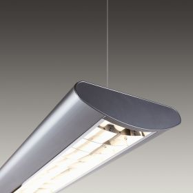 Architectural Louvered LED Linear Pendant Mount Direct Down Light Fixture