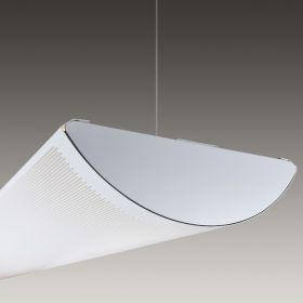 Architectural Perforated LED Linear Pendant Mount Direct/Indirect Light Fixture