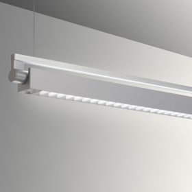 Gladstone Adjustable Architectural LED Strip Light Pendant - Louvered Direct/Indirect