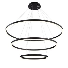 Alcon Lighting 12234 Cirkel Three-Tier 60.75 Inches LED Architectural Suspended Pendant Chandelier
