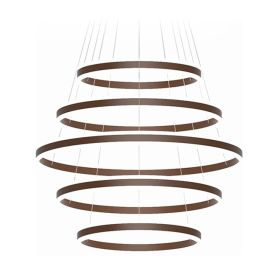 Alcon Lighting 12270-5 Redondo Suspended Architectural LED 5 Tier Ring Direct Indirect Chandelier Light