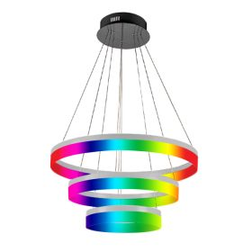 Alcon 12272-3-RGBW Redondo Architectural LED 3 Tier Ring Chandelier