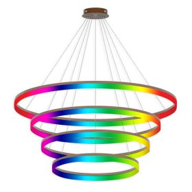 Alcon 12272-4-RGBW Redondo Architectural LED 4 Tier Ring Chandelier